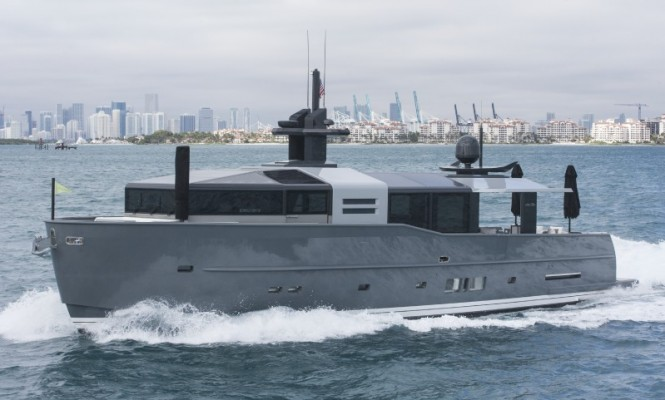 Arcadia 85 US Edition Yacht underway - Photo by Scott Pearson