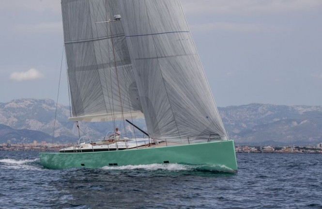 Brenta 80 DC luxury yacht COOL BREEZE under sail - Photo by J. Renedo