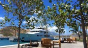 Burger superyacht INGOT at Christophe Harbour in St Kitts and Nevis – Image credit to Christophe Harbour