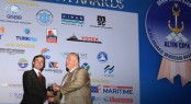 Cenk Bircan, general manager of Palmarina Bodrum, receives Golden Anchor 'Best Marina Management' Award