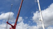 Dismasting for 82m mast of Sailing Superyacht KOKOMO at STP Shipyard Palma