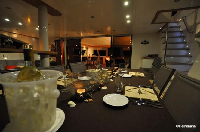 Luxury catamaran BLACK SWAN Glass Doors by Allufer Tempesta