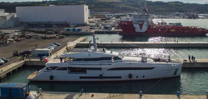 Luxury motor yacht GENESI on the water