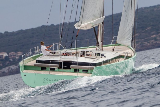 Luxury yacht COOL BREEZE under sail - aft view - Photo by J. Renedo