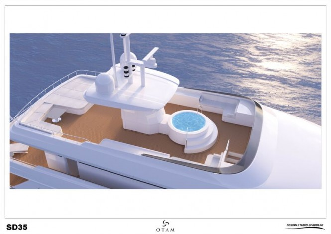 Luxury yacht GIPSY from above