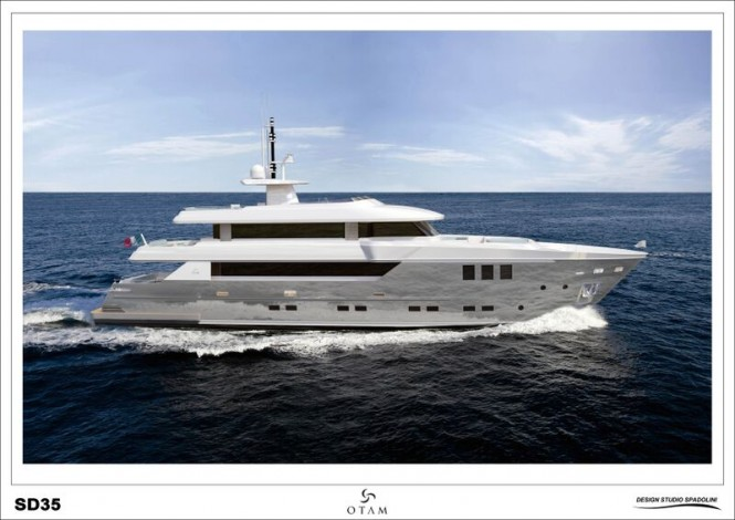 Luxury yacht GIPSY - side view