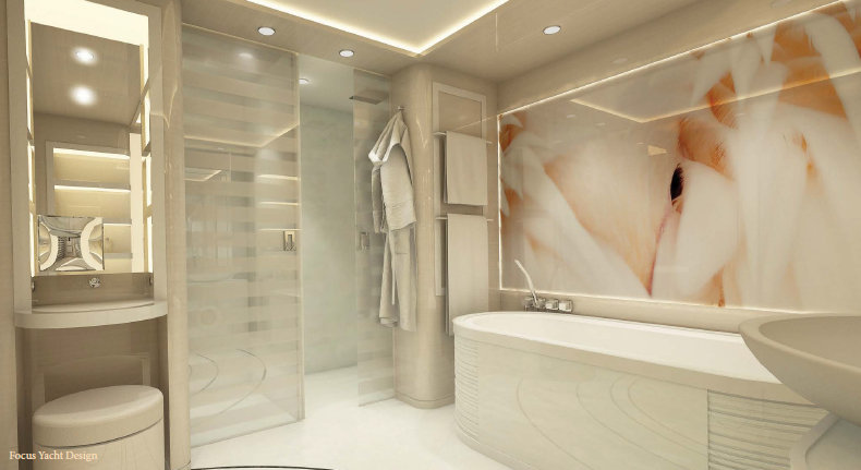 Luxury Yacht ZENITH Bathroom Luxury Yacht Charter Superyacht