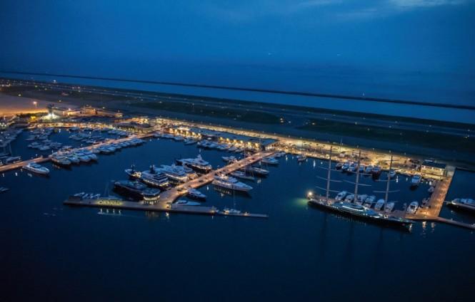 Marina Genova Aeroporto by night