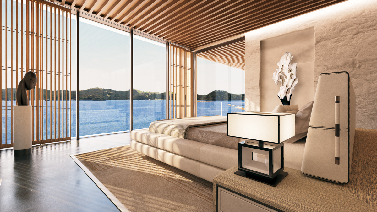 Motor Yacht Symmetry Concept Vip Bedroom Suite Yacht