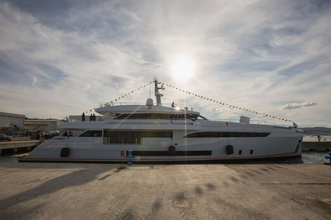 Newly launched WIDER 150 superyacht GENESI