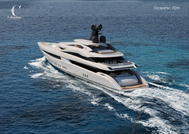 Oceanic 70 Yacht by Columbus - aft view