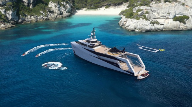 PIRIOU YSV 63 yacht support vessel from above - Image credit to PIRIOU