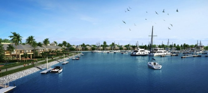 Port Takola Marina basin perspective