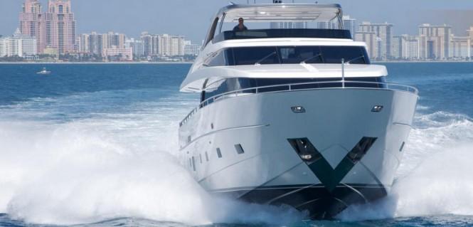 Sanlorenzo SL96 Superyacht at full speed