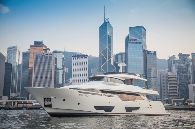 Super Yacht NAVETTA 28 by Custom Line in Hong Kong