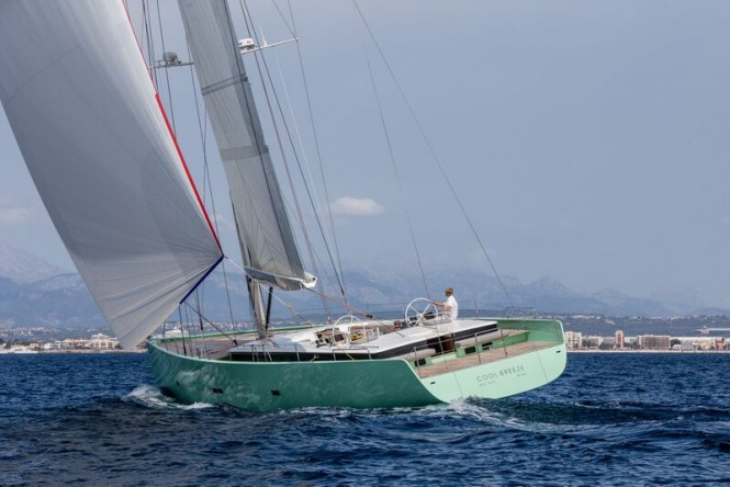 Superyacht COOL BREEZE - aft view - Photo by J. Renedo