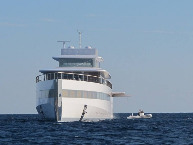 Superyacht VENUS - front view - Photo by Guillaume & Amandine Conti and Feadship Fanclub