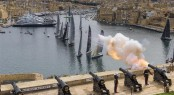 The Saluting Battery cannons mark the start of the Rolex Middle Sea Race - Photo by Rolex Carlo Borlenghi