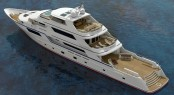 The charter yacht profile of the 50m superyacht EVOLUTION design