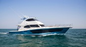 The high-performance and supremely seaworthy 77 Enclosed Flybridge Yacht from Riviera
