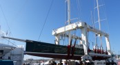 The largest lifting to date in the Balearics performed by STP Shipyard Palma - the 66,7m mega yacht HETAIROS