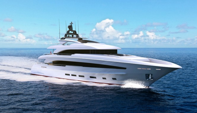 Turquoise 40m Yacht Project by Cor D Rover and Van Oossanen