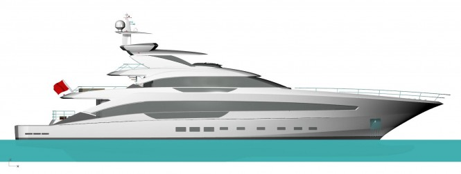Turquoise 46m Yacht Project by Cor D Rover and Van Oossanen