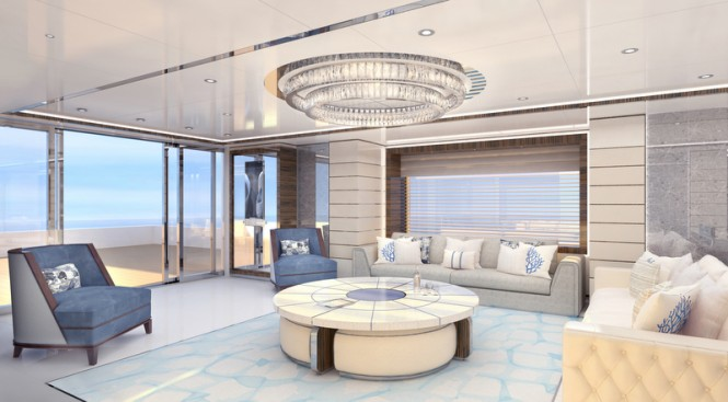 Turquoise 47m motor yacht project - Main Saloon