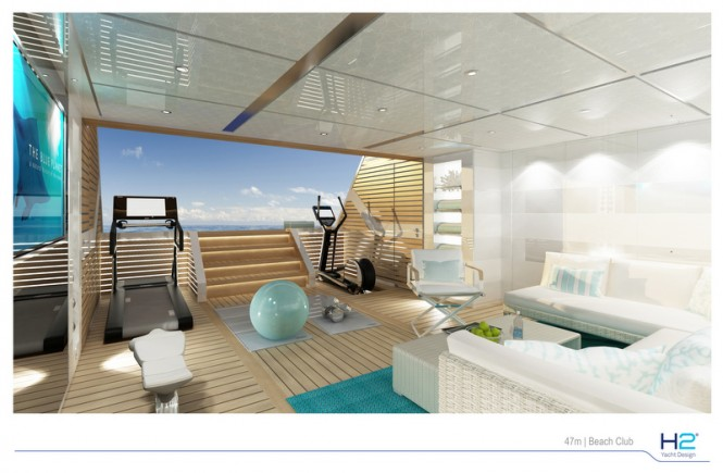 Turquoise 47m superyacht project - Beach Club