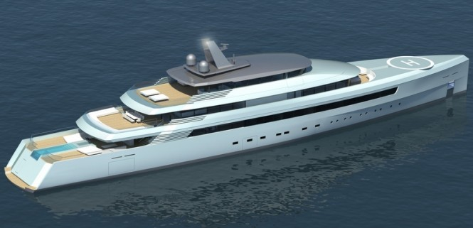 Turquoise 80m superyacht project by Vitruvius