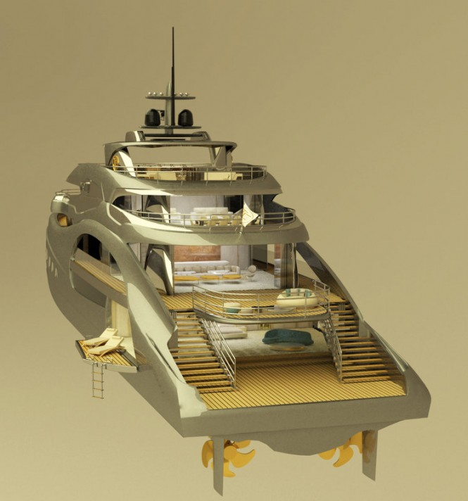 65m T. Fotiadis Luxury Yacht Concept - aft view