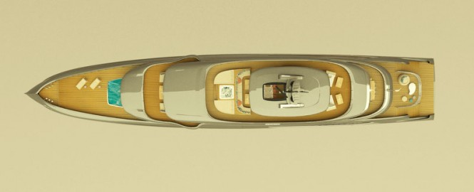 65m T. Fotiadis Superyacht Concept from above
