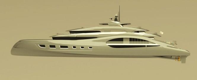 65m T. Fotiadis Yacht Concept - side view