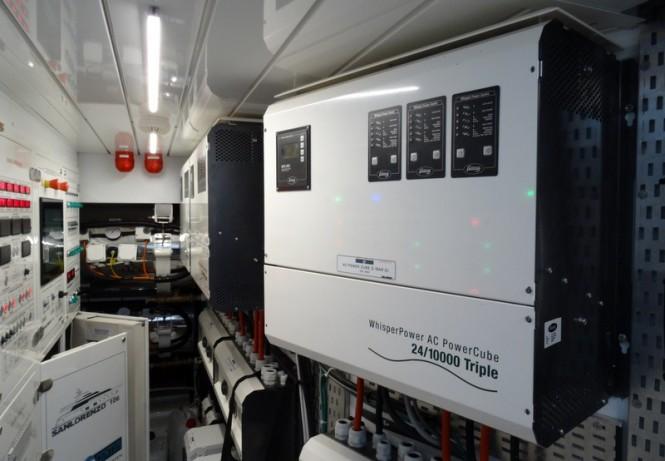 Sanlorenzo 106 Hybrid Yacht Engine Room - AC PowerCube by WhisperPower