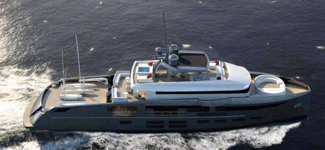 Superyacht NEMO concept from above
