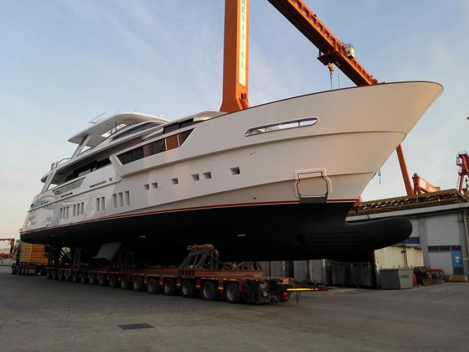 34m Mengi-Yay Superyacht REM at launch - Photo credit to Tufan Avsar