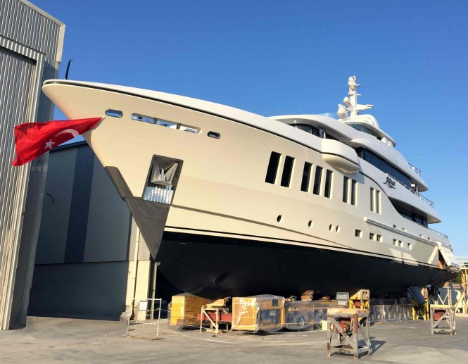 41m ALIA Yacht RUYA at launch