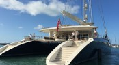 44m sailing catamaran HEMISPHERE at Abell Point Marina