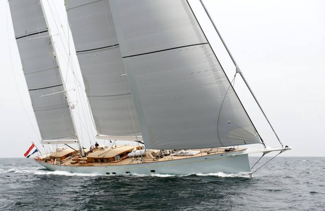 46m super yacht ELFJE (hull 392) by Royal Huisman and Hoek Design