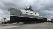 54m Damen Sea Axe yacht support vessel ADVANTAGE ready to be launched