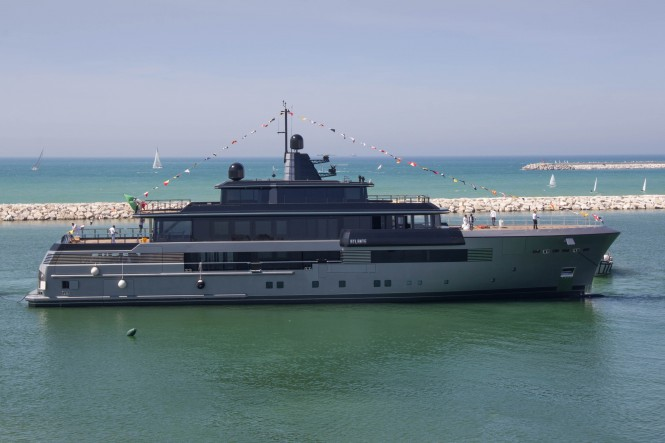 55m CRN Superyacht Atlante at Launch