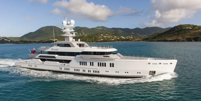 66m Lurssen mega yacht ESTER III - Photo by Klaus Jordan