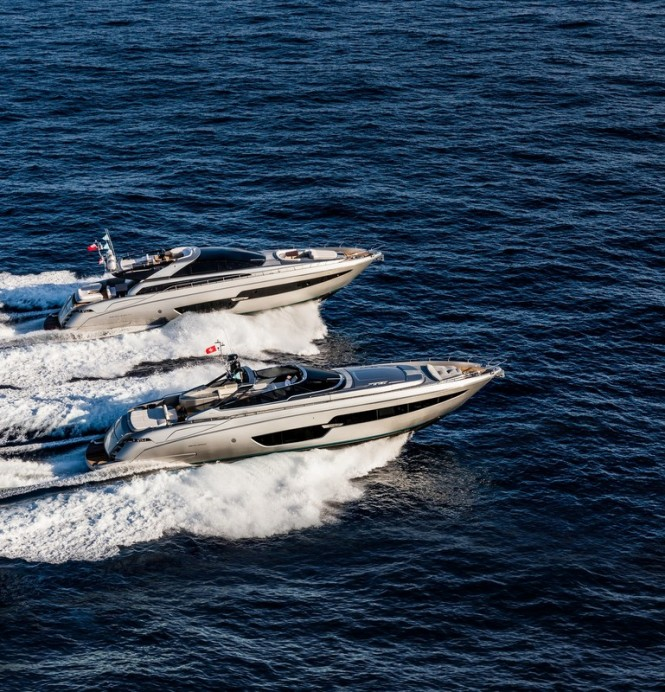 88' Florida and 88' Domino Super Yachts by RIVA underway