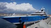 99m mega yacht MADAME GU at Limassol Marina