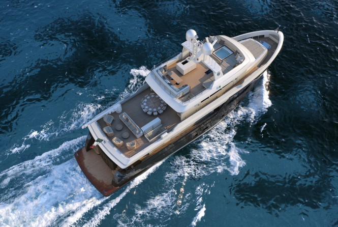 ACALA Yacht - from above