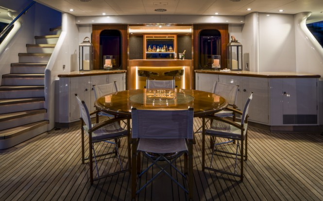 Aboard LADY INDIA Yacht - Photo by Peter Baas