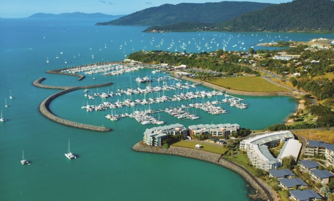 Aerial view of Abell Point Marina