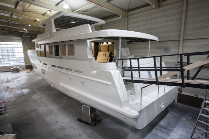 Continental Four 2395M Yacht in build