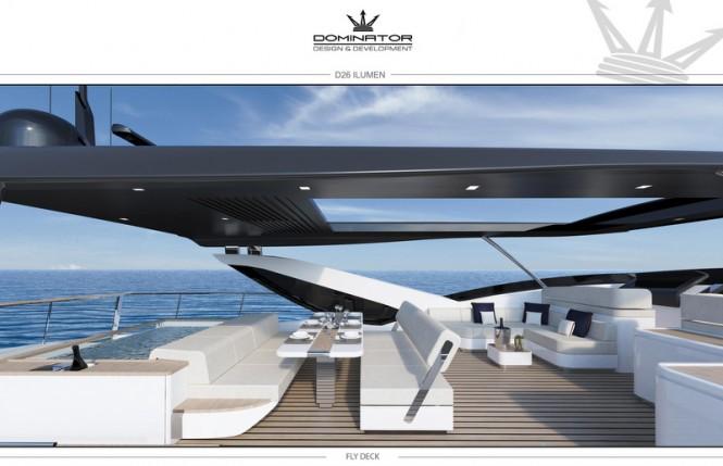 D26 Yacht ILUMEN - Fly Deck