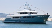Darwin Class 107 motor yacht STORM by Cantiere delle Marche at launch in July 2015